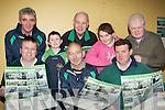 Launching the Milltown GAA calendar in their clubhouse on Friday night front row l-r: Linus Burke, Brendan Twiss, Paul Hogan. Back row: Willie O'Shea, Linus O?g Burke, Albert King, Maura Twiss and Mike Carroll.