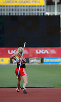 Photo: Tony Oudot/Richard Lane Photography..Aviva London Grand Prix. 25/07/2009. .women's Javelin. .Elisabeth Pauer of Austria.