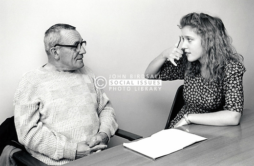 Speech therapist at the Queen's Medical Centre Hospital Nottingham UK 1990