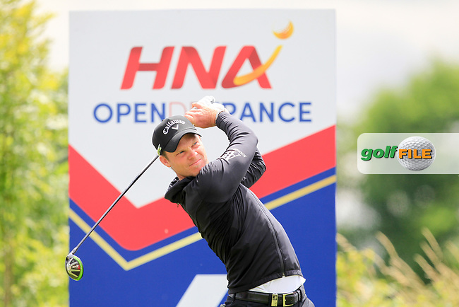 Danny Willett (ENG) on the 6th tee during Round 1 of the HNA Open De France  at The Golf National on Thursday 29th June 2017.<br /> Photo: Golffile / Thos Caffrey.<br /> <br /> All photo usage must carry mandatory copyright credit     (&copy; Golffile | Thos Caffrey)