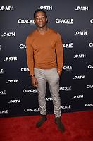 "LOS ANGELES - JAN 14:  Arlen Escaroeta at the Crackle's ""The Oath"" Photo Call at the Langham Huntington Hotel on January 14, 2018 in Pasadena, CA"