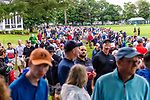 CROMWELL, CT. 21 June 2019-062119 - Large crowds walk up the ninth hole following the group that included former Travelers Champions Marc Leishman, Jordan Spieth, and Phil Mickelson, during the second round of the Travelers Championship at the TPC River Highlands in Cromwell on Thursday. Bill Shettle Republican-American