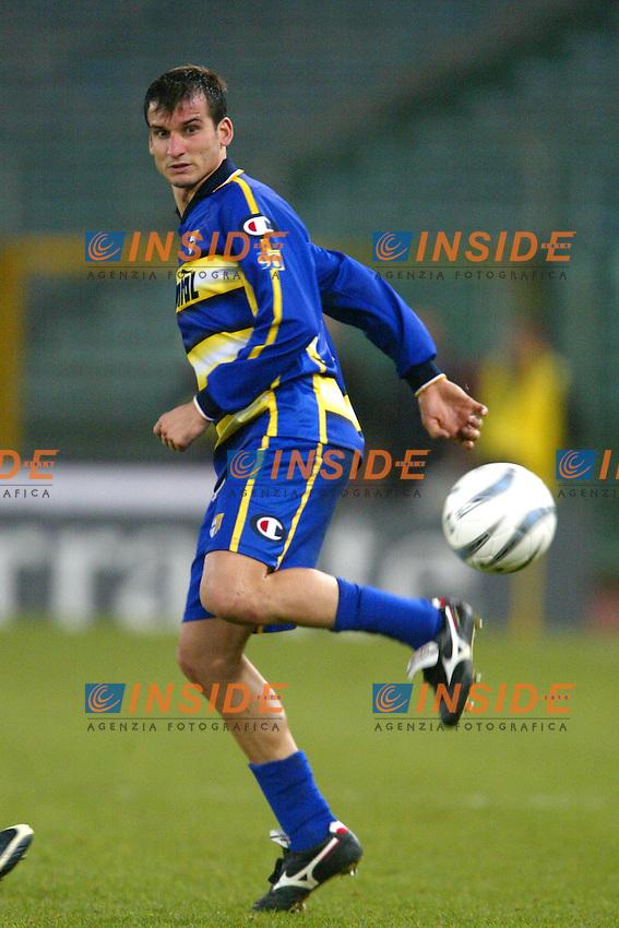 Roma 14/1/2004 - Coppa Italia<br /> Lazio Parma 2-0<br /> Anthony Seric (Parma)<br /> Foto Andrea Staccioli Insidefoto