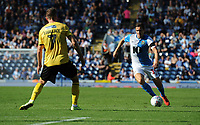 Blackburn Rovers' Stewart Downing under pressure from Millwall's Jed Wallace<br /> <br /> Photographer Kevin Barnes/CameraSport<br /> <br /> The EFL Sky Bet Championship - Blackburn Rovers v Millwall - Saturday September 14th 2019 - Ewood Park - Blackburn<br /> <br /> World Copyright © 2019 CameraSport. All rights reserved. 43 Linden Ave. Countesthorpe. Leicester. England. LE8 5PG - Tel: +44 (0) 116 277 4147 - admin@camerasport.com - www.camerasport.com
