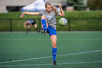 Allston, MA - Sunday, May 22, 2016: Boston Breakers forward Brittany Ratcliffe (11) during warmups prior to a regular season National Women's Soccer League (NWSL) match at Jordan Field.