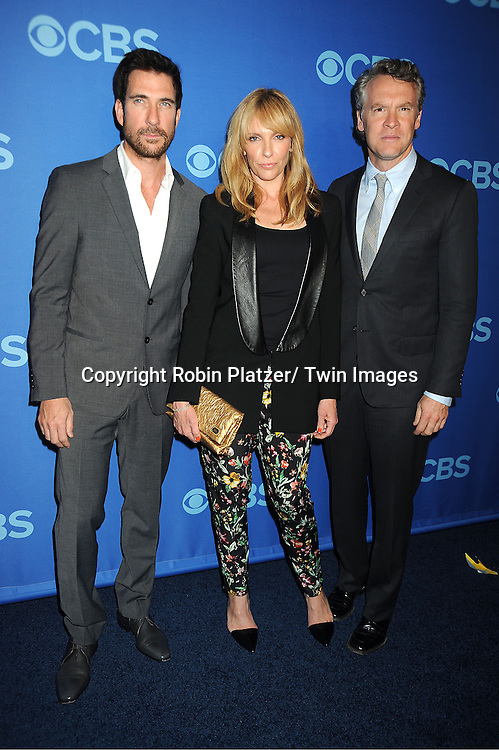 "cast of ""Hostages"" , Dylan McDermott, Toni Collette and Tate Donovan, attend the CBS Prime Time 2013 Upfront on May 15, 2013 at Lincoln Center in New York City."