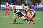 Glasgow 2014 Commonwealth Games<br /> Wales v England<br /> Sarah Jones in action.<br /> Glasgow National Hockey Centre<br /> <br /> 24.07.14<br /> ©Steve Pope-SPORTINGWALES