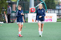 Boston, MA - Sunday May 07, 2017: Sam Witteman and Makenzy Doniak prior to warmups before a regular season National Women's Soccer League (NWSL) match between the Boston Breakers and the North Carolina Courage at Jordan Field.