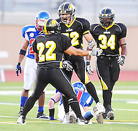 The Madison Mustangs top the Burlington Blue Devils 38-24 in Iron Bowl XIV at Hart Park in Wauwatosa, Wisconsin on Saturday, 8/29/10
