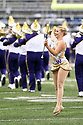 SEATTLE, WA - September 07:  Washington Baton twirler JaZe Griffith entertained fans before the college football game between the Washington Huskies and the California Bears on September 07, 2019 at Husky Stadium in Seattle, WA. Jesse Beals / www.Olympicphotogroup.com