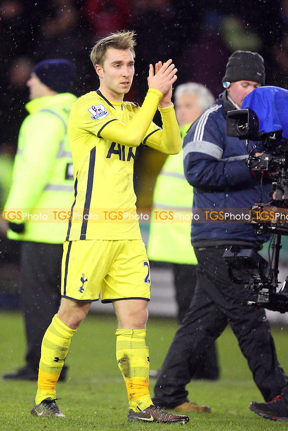 Christian Eriksen of Tottenham Hotspur applauds the fans at the end of the gae - Sheffield United vs Tottenham Hotspur - Capital One Cup Semi Final action at the Brammell Lane Stadium on 28/01/2015 - MANDATORY CREDIT: Dave Simpson/TGSPHOTO - Self billing applies where appropriate - 0845 094 6026 - contact@tgsphoto.co.uk - NO UNPAID USE