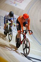 Picture by SWpix.com - 02/03/2018 - Cycling - 2018 UCI Track Cycling World Championships, Day 3 - Omnisport, Apeldoorn, Netherlands - Men's Points Race -Jan Willem van Schip of The Netherlands