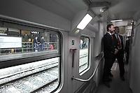 Roma, 5 aprile 2012.Trenitalia presenta i nuovi treni per i pendolari. Ferrovieri
