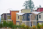 Row of Colorful Modern Homes