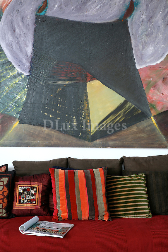 ethnic contemporary living room