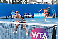 IRINA CAMELIA BEGU of ROMANIA (ROU) and DARYA KASATKINA of RUSSIA (RUS) <br /> <br /> 2017 BRISBANE INTERNATIONAL, PAT RAFTER ARENA, BRISBANE TENNIS CENTRE, BRISBANE, QUEENSLAND, AUSTRALIA<br /> <br /> &copy; TENNIS PHOTO NETWORK
