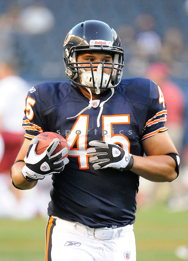 WILL TA'UFO'OU, of the Chicago Bears, in action during the Bears game against the Arizona Cardinals at Soldier Field in Chicago, IL.  on August 28, 2010.  The Cardinals beat the Bears 14-9 in the third week of preseason games...