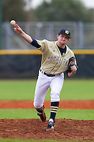 Notre Dame Fighting Irish pitcher Kyle Rubbinaccio #37 delivers a pitch during a game against the Illinois Fighting Illini at the Big Ten/Big East Challenge at Walter Fuller Complex on February 17, 2012 in St. Petersburg, Florida.  (Mike Janes/Four Seam Images)