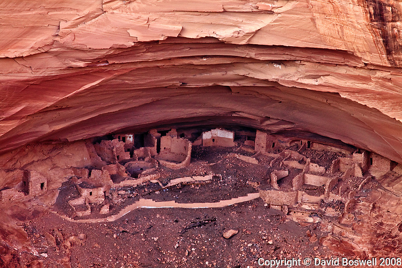 Ruins in the Mummy Cave at Canyon de Chelly on the Navajo Reservation in Northern Arizona.