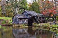 Fall foliage at Mabry Mill, located along the Blue Ridge Parkway near Meadows of Dan, Virginia