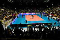 BOGOTÁ-COLOMBIA, 09-01-2020: Vista del Coliseo El Salitre durante partido entre Argentina y Colombia en el Preolímpico Suramericano de Voleibol, clasificatorio a los Juegos Olímpicos Tokio 2020, jugado en el Coliseo del Salitre en la ciudad de Bogotá del 7 al 9 de enero de 2020. / View of Salitre Coliseum during a match between Argentina and Colombia, in the South American Volleyball Pre-Olympic Championship, qualifier for the Tokyo 2020 Olympic Games, played in the Colosseum El Salitre in Bogota city, from January 7 to 9, 2020. Photo: VizzorImage / Luis Ramírez / Staff.