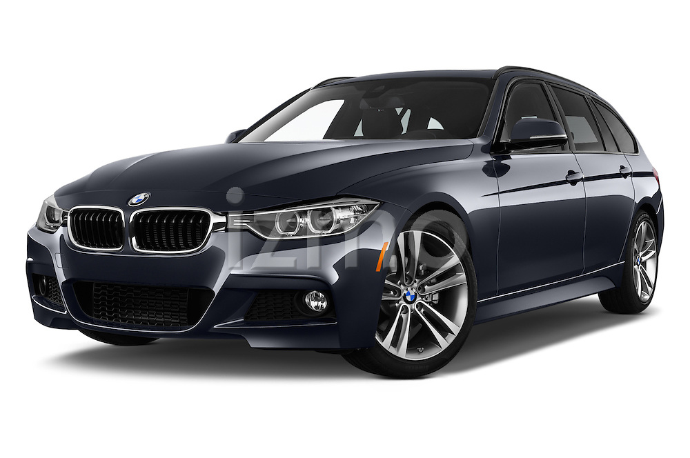 Stock pictures of low aggressive front three quarter view of 2017 BMW 3-Series 328d-Sports-Wagon 5 Door Wagon Low Aggressive