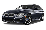 Stock pictures of low aggressive front three quarter view of 2018 BMW 3-Series 328d-Sports-Wagon 5 Door Wagon Low Aggressive