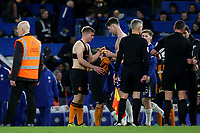 Chelsea's Gary Cahill swaps shirt with a Hull City player at the final whistle during Chelsea vs Hull City, Emirates FA Cup Football at Stamford Bridge on 16th February 2018