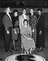 1989: Women's Basketball Staff.<br />