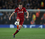 James Milner of Liverpool controls the ball during the Champions League Quarter Final 1st Leg, match at Anfield Stadium, Liverpool. Picture date: 4th April 2018. Picture credit should read: Simon Bellis/Sportimage
