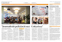 Helsingin Sanomat (leading Finnish daily) on the forced shutdown of the oppositional daily Nepszabadsag, Hungary, October 2016<br />