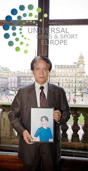 Dr Thuang Htun receives freedom of the city of Glasgow, at City Chambers on behalf of Dr Aung San Suu Kyi, who is under house arrest in Burma.<br /> Picture: Universal News And Sport (Scotland)<br /> 4/3/09