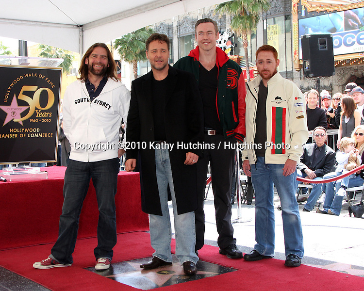Russell Crowe & His CoStars From Robin Hood.at the ceremony where Russell Crowe Receives a Star on the Hollywood Walk of Fame.Kodak Theater.Los Angeles, CA.April 12, 2010.©2010 Kathy Hutchins / Hutchins Photo...