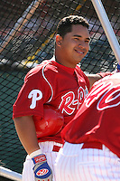 May 29th 2008:  Orlando Guevara of the Reading Phillies, Class-AA affiliate of the Philadelphia Phillies, during a game at Jerry Uht Park in Erie, PA.  Photo by:  Mike Janes/Four Seam Images