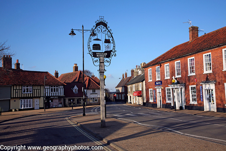 Village centre, Wickham Market, Suffolk, England