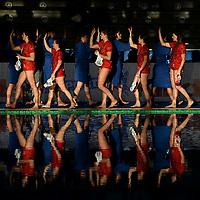 Saluto iniziale <br /> Roma 05/01/2019 Centro Federale  <br /> Final Six Pallanuoto Donne Coppa Italia <br /> RN Florentia - Kally NC Milano Finale 5-6 posto<br /> Foto Andrea Staccioli/Deepbluemedia/Insidefoto