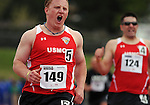 May 17, 2011 Colorado Springs, CO.  Marine Corps athlete, Joshua Wege, pulls away during the 100 meter dash competition during the 2011 Warrior Games at the U.S. Olympic Training Center, Colorado Springs, CO...