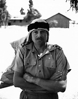 BNPS.co.uk (01202 558833)<br /> Pic: Pen&Sword/BNPS<br /> <br /> Lieutenant Colonel Anthony Barne in Palestine, 1938<br /> <br /> Previously unseen photos of Winston Churchill both in the theatre of war and at leisure afterwards have come to light in a new book.<br /> <br /> One snap shows him addressing troops of his 4th Hussars regiment in Cairo, while he is seen in another at the door of an aircraft with a trademark cigar in his mouth. <br /> <br /> There is also a candid image of the wartime leader painting at Lake Como in September 1945 where he convalesced after losing to Clement Attlee in the general election.<br /> <br /> The photos belonged to Lieutenant Colonel Anthony Barne, who was commanding officer of the 4th Hussars.<br /> <br /> The photos, and Lt Col Barne's war diaries, are published for the first time in a new book, Churchill's Colonel, which has been edited by his grandson Charles Barne.