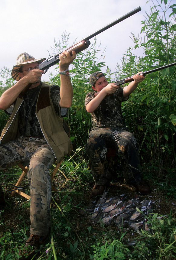 Mourning dove hunters, Cross County, Arkansas