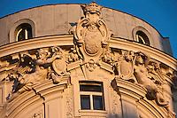 Europe/Autriche/Niederösterreich/Vienne: Détail façade de l'immeuble du café Griensteidl sur la Michaelerplatz devant  la Hofburg