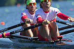 Rowing, Canada Lightweight Men's Double, Douglas Vandor, bow, Cameron Selvestor, stroke, 2010 FISA World Rowing Championships, Lake Karapiro, Hamilton, New Zealand, First in heat Mon Nov 1