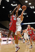 STANFORD, CA - DECEMBER 13:  Jayne Appel of the Stanford Cardinal during Stanford's 100-62 win over the Fresno State Bulldogs on December 13, 2008 at Maples Pavilion in Stanford, California.