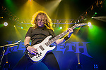 Megadeth perform at Mohegan Sun Arena for the Gigantour 2012 Tour on January 27, 2012
