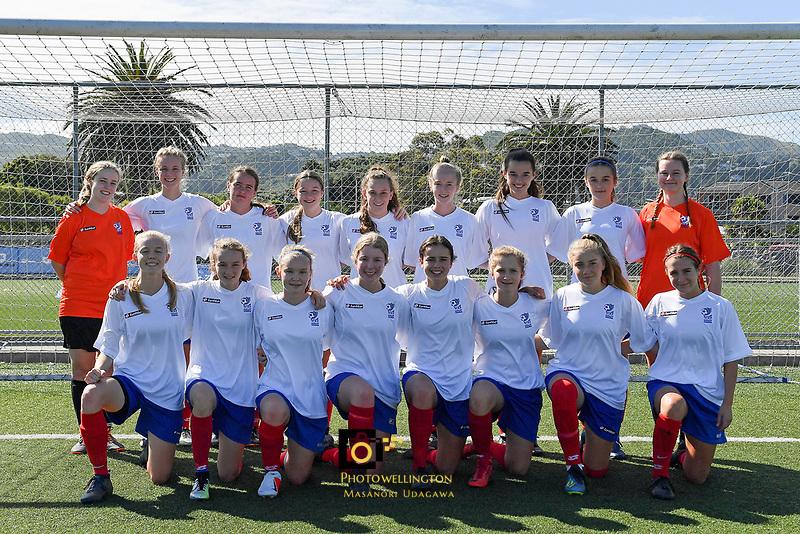 U16 Girls Auckland Team, National Age Group Tournament at Petone Memorial Park, Lower Hutt, New Zealand on Wednesday 12 December  2018. <br /> Photo by Masanori Udagawa. <br /> www.photowellington.photoshelter.com