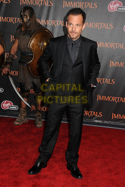 "Stephen Dorff.""Immortals"" World Premiere held at Nokia Theatre LA Live, Los Angeles, California, USA..November 7th, 2011.full length suit black waistcoat hands in pockets.CAP/ADM/BP.©Byron Purvis/AdMedia/Capital Pictures."