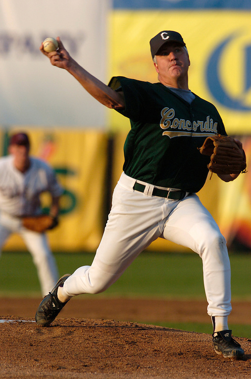 John Shimkus on the mound during the 2004 Congressional Baseball Game.
