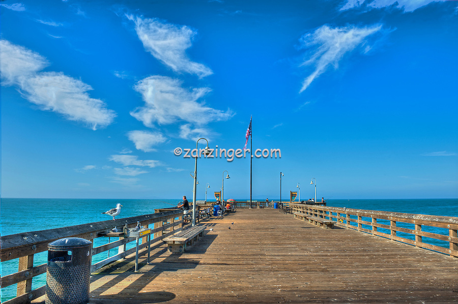Ventura, CA, Wooden Pier, Boardwalk, Scenic View, beautiful, Pacific Ocean, Waves, Pier POV