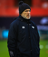 Ospreys' Coach Steve Tandy during the pre match warm up.<br /> <br /> Photographer Dan Minto/CameraSport<br /> <br /> Guinness Pro14 Round 13 - Ospreys v Cardiff Blues - Saturday 6th January 2018 - Liberty Stadium - Swansea<br /> <br /> World Copyright &copy; 2018 CameraSport. All rights reserved. 43 Linden Ave. Countesthorpe. Leicester. England. LE8 5PG - Tel: +44 (0) 116 277 4147 - admin@camerasport.com - www.camerasport.com