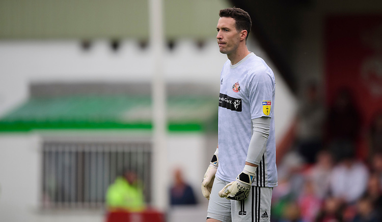 Sunderland's Jon McLaughlin<br /> <br /> Photographer Chris Vaughan/CameraSport<br /> <br /> The EFL Sky Bet League One - Lincoln City v Sunderland - Saturday 5th October 2019 - Sincil Bank - Lincoln<br /> <br /> World Copyright © 2019 CameraSport. All rights reserved. 43 Linden Ave. Countesthorpe. Leicester. England. LE8 5PG - Tel: +44 (0) 116 277 4147 - admin@camerasport.com - www.camerasport.com