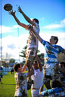 Action from the traditional 1st XV rugby union match between Palmerston North Boys' High School and St Patrick's College Silverstream at PNBHS in Palmerston North, New Zealand on Wednesday, 27 June 2018. Photo: Dave Lintott / lintottphoto.co.nz